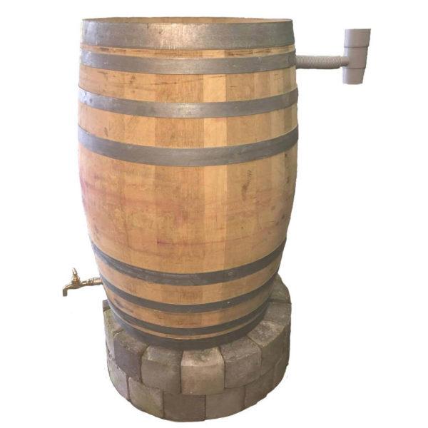 Unik Regnvandstønde i træ 225 liter - Lavet af egetræ - Gratis fragt!