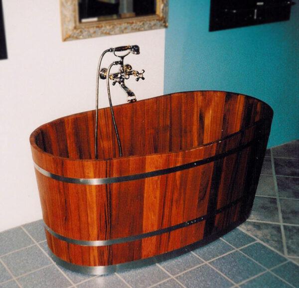 Eksempel på håndlavet badekar