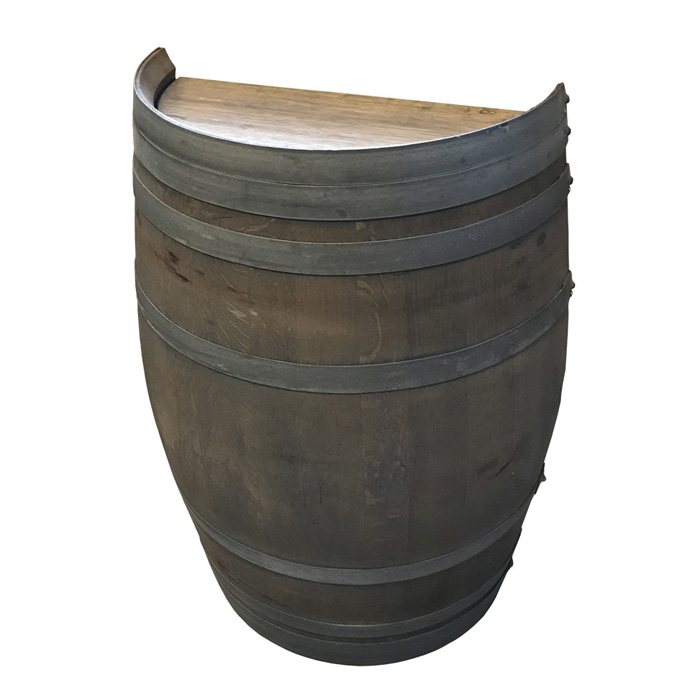 Image of   Halv vintønde, bejdset (flækket på langs), 110 liter