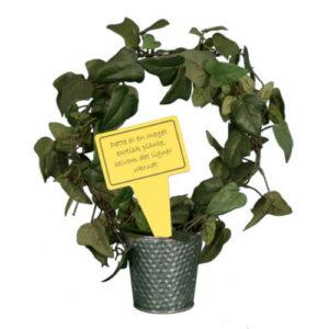 Sjovt planteskilt - Meget exotisk ukrudt