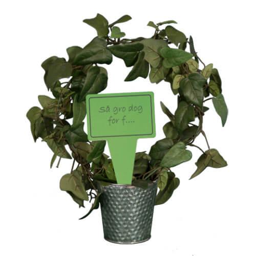 Billede af Sjovt planteskilt - Så gro dog