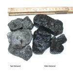 DSB-skærver i sort granit