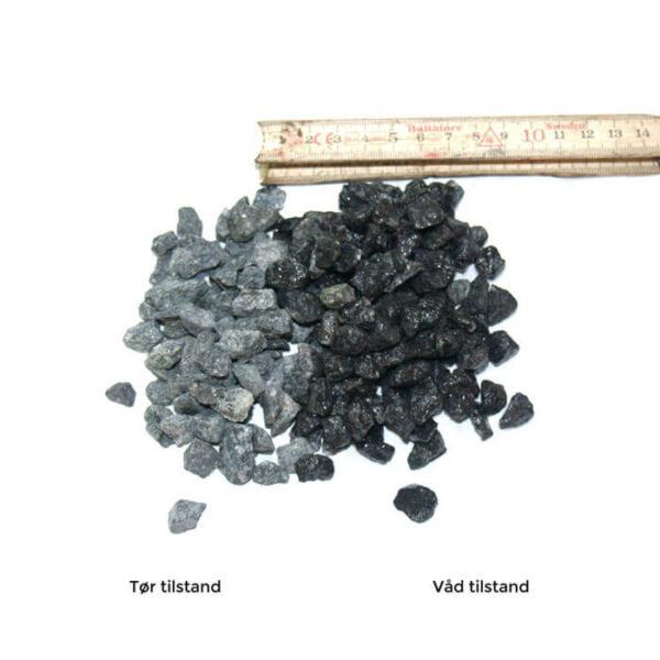 8-11 granitskærve, sort