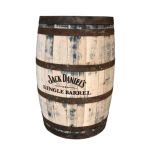 Jack Daniels whiskytønde nypudset
