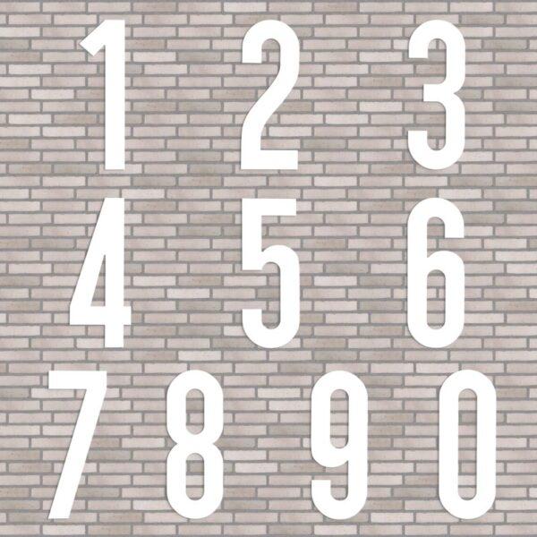 hvide husnumre