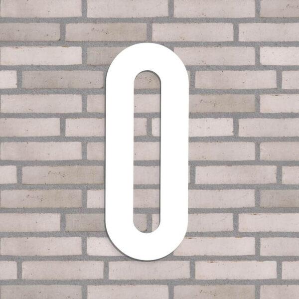 hvid husnummer nr. 0