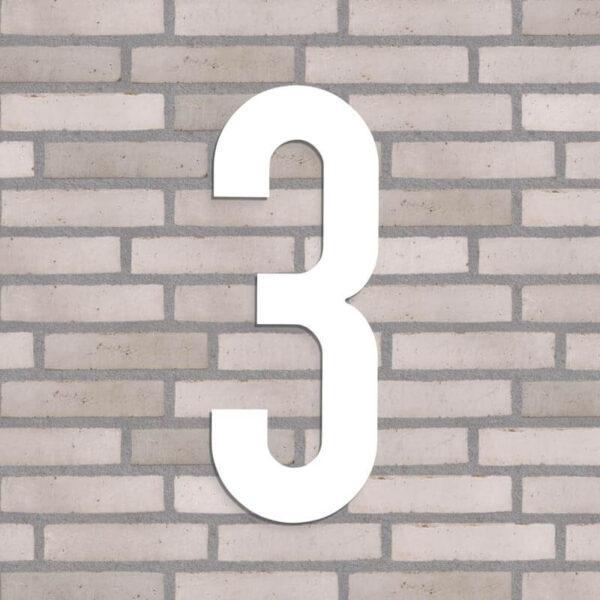 hvid nr 3 husnummer 40 cm høj