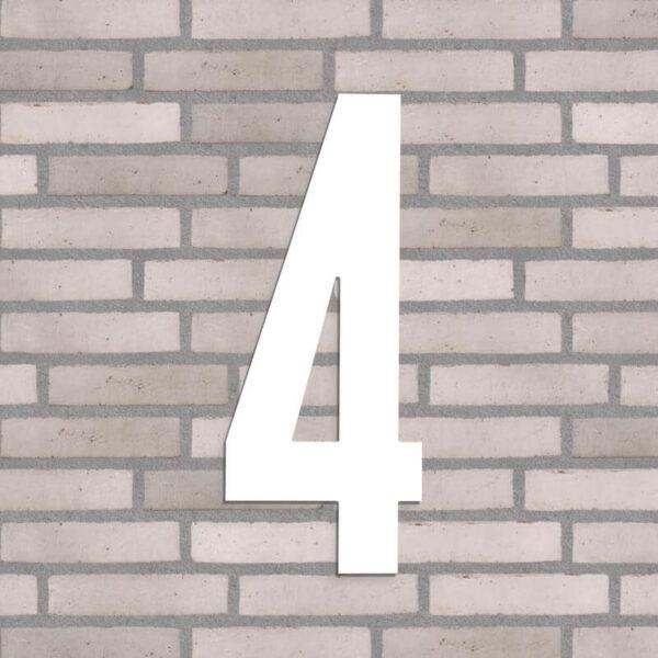 hvidt husnummer 4