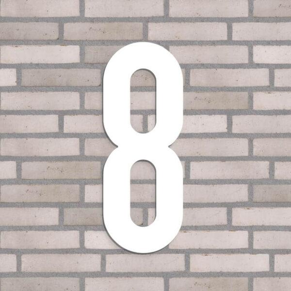 40 cm. højt husnummer i farven hvid