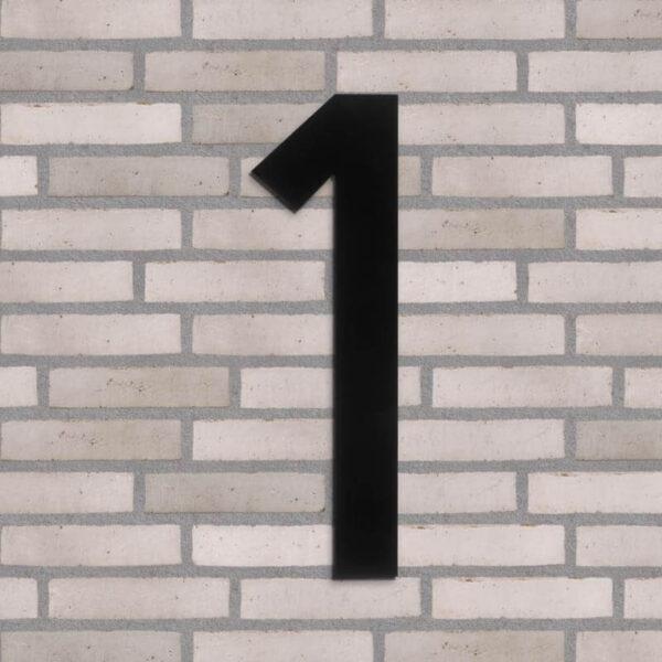 1 tal husnummer sort 40 cm