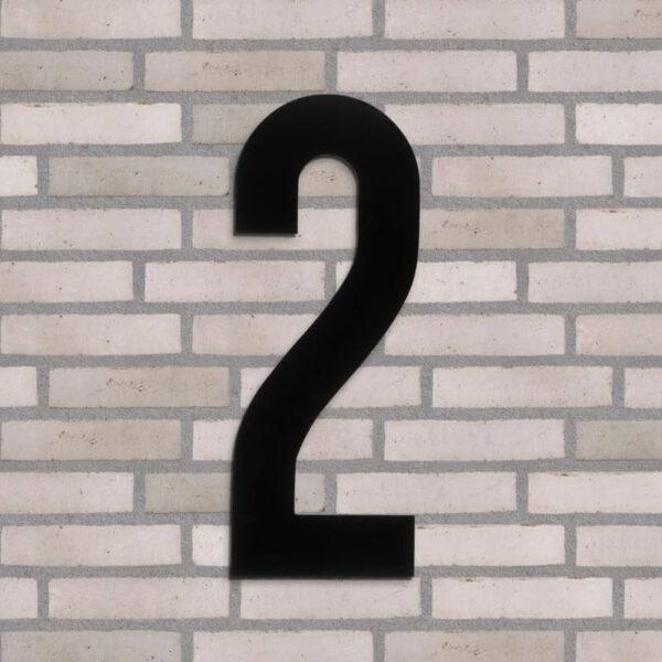 2 tal husnummer sort 40 cm