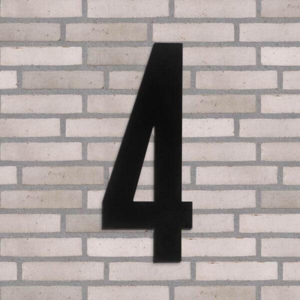 4 tal husnummer sort 40 cm