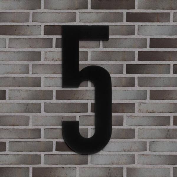 5 tal husnummer sort 40 cm