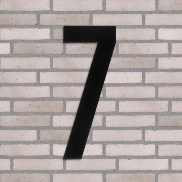 7 tal husnummer sort 40 cm