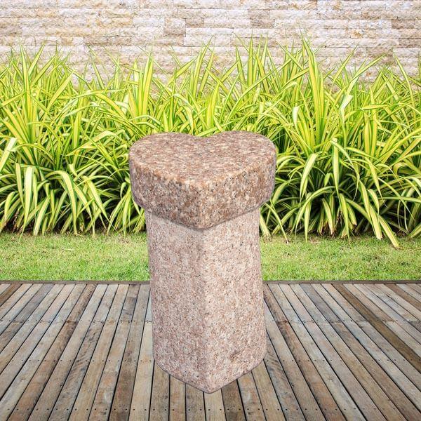 Image of   Granit hjerte skammel - Rosa