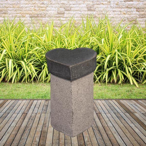 Image of   Granit hjerte skammel - Grå