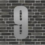 husnummer sølv #9