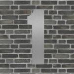 husnummer sølv #1