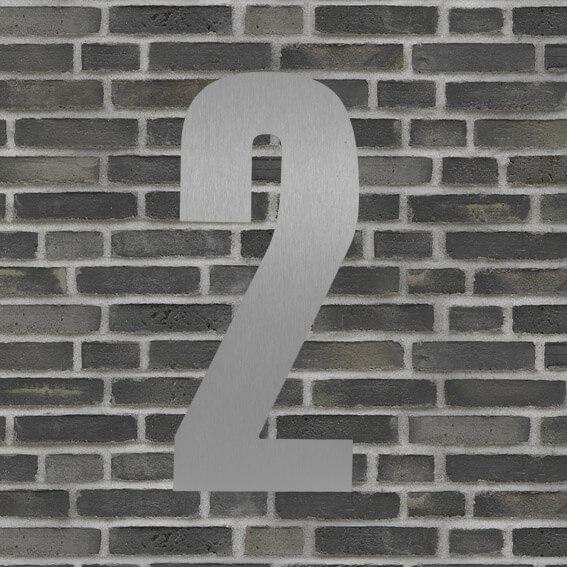 Husnummer 2 sølv