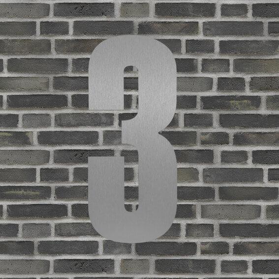 husnummer sølv #3
