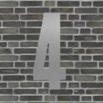 husnummer sølv #4