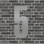 husnummer sølv #5