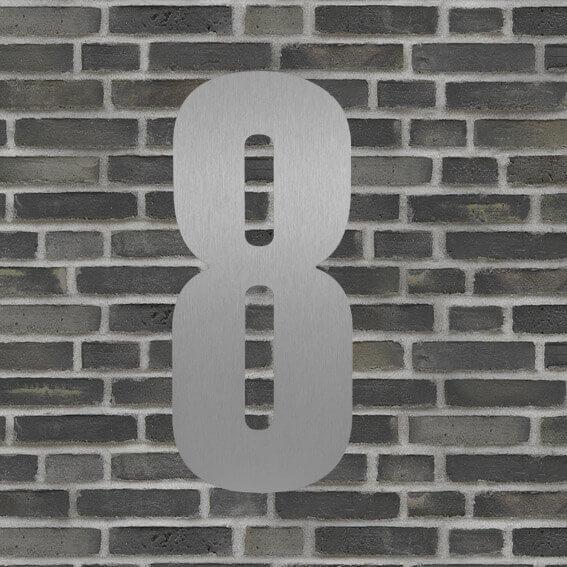 husnummer sølv #8