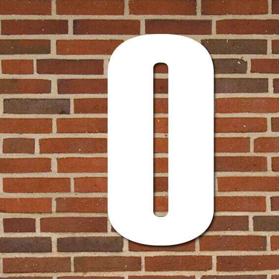 hvid husnummer #0