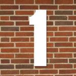 hvid husnummer #1