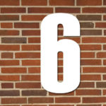 hvid husnummer #6