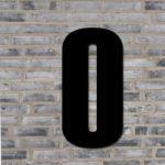 Sort husnummer #0