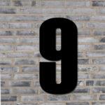 Sort husnummer #9