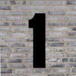 Sort husnummer #1