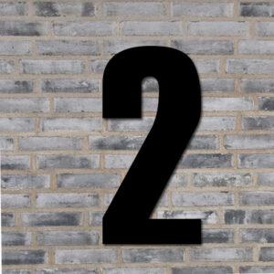Husnummer skilt sort - 2