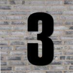Sort husnummer #3