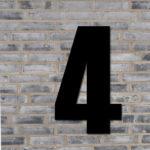 Sort husnummer #4