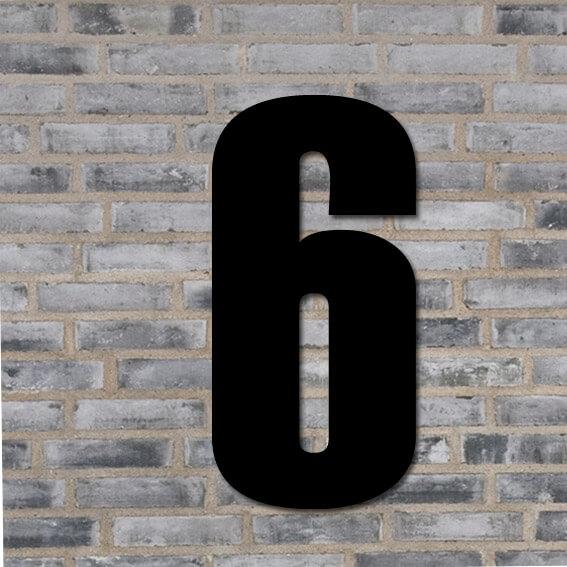Sort husnummer #6