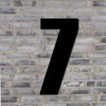 Sort husnummer #7