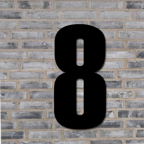 Sort husnummer #8