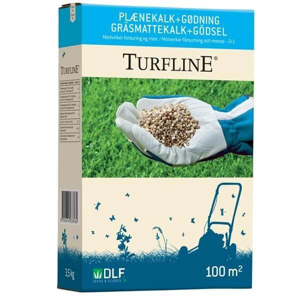 plænekalk + gødning fra Turfline