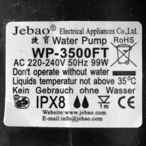 Vandpumpedeklaration3500L