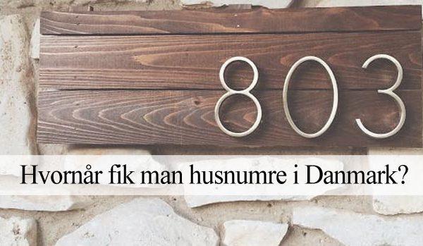 Historien om husnumre