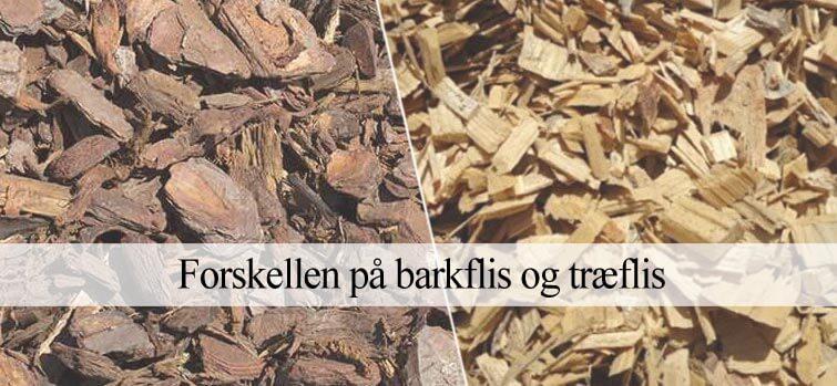Forskellen på barkflis og træflis