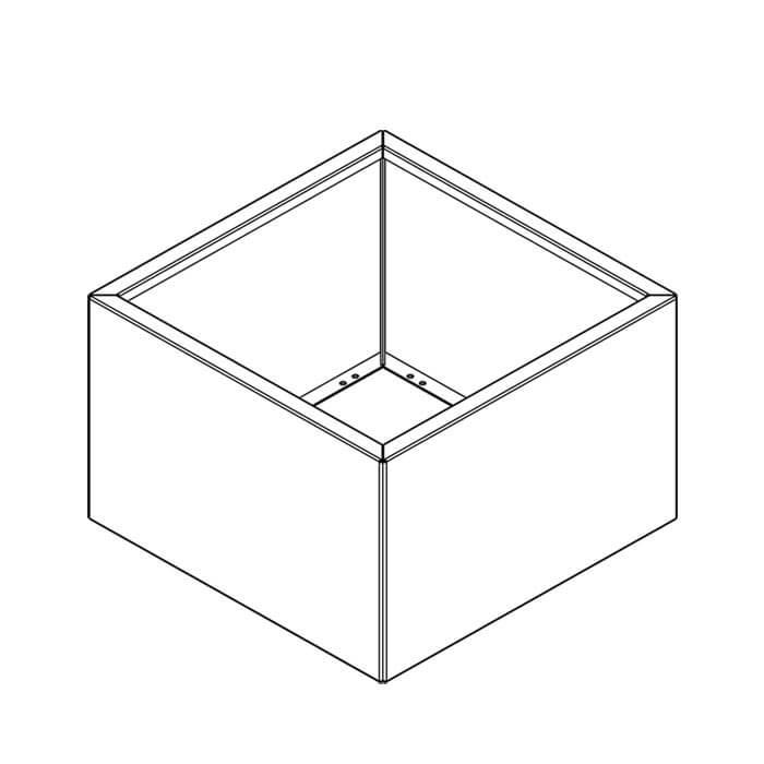 Image of   Højbed i cortenstål - kvadratisk