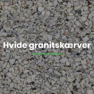 Hvide granitskærver