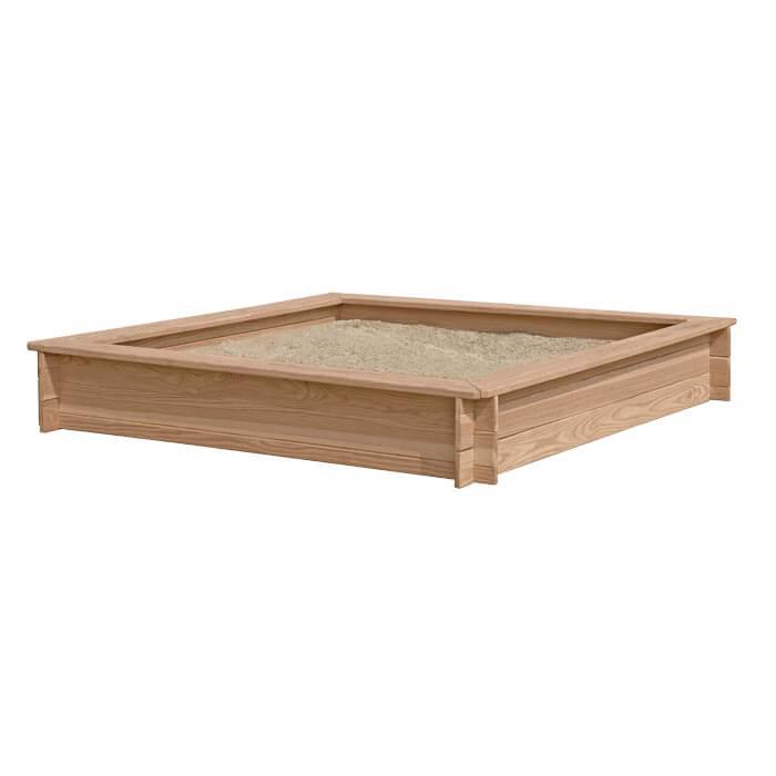Topmoderne Stor sandkasse i lærketræ 150x150x25 cm. | Havehandel.dk DE-92
