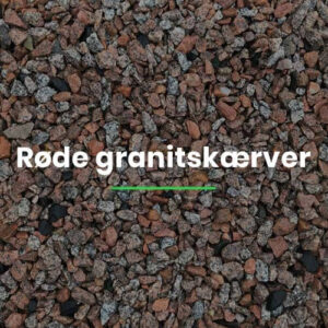 Røde granitskærver