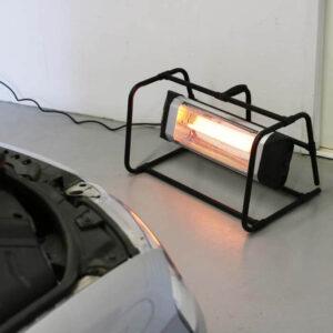 Smart terrassevarmer til værkstedet