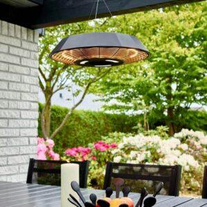 Terrassevarmer med LED-lys og fjernbetjning