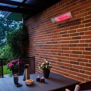 Billig terrassevarmer på væg i udestue